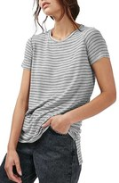 Topshop Side Split Stripe Tee
