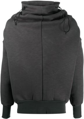 Niløs Curve-Seam Funnel Neck Sweatshirt