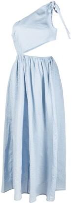 Marysia Swim One-Shoulder Cut-Out Midi Dress