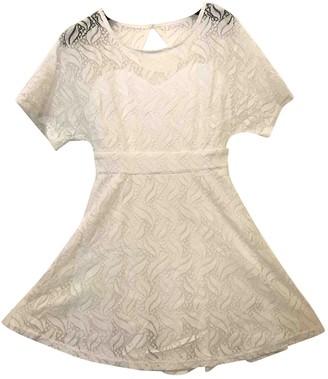 Non Signã© / Unsigned Manche ballon White Lace Dresses