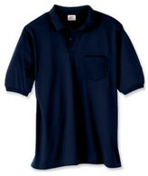 Hanes Adult Comfortblend Ecosmart Jersey Polo With Pocket (L)