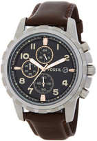 Fossil Men&s Dean Chronograph Leather Strap Watch