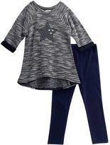 Youngland Girls 4-6x Marled Sweater & Leggings Set