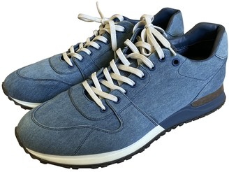 Louis Vuitton Run Away Blue Cloth Trainers