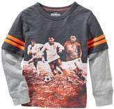 Osh Kosh Boys 4-7 Mock-Layered Soccer Graphic Tee