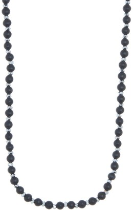 Area Stars Luxe Black Beaded Long Necklace