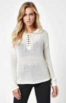 La Hearts Lace-Up Sweater