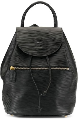 Fendi Pre Owned Logo Drawstring Backpack