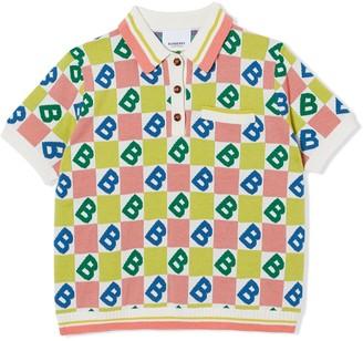 BURBERRY KIDS B Motif polo shirt
