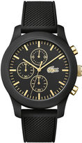 Lacoste Unisex Lacoste.12.12 Black Chronograph Watch