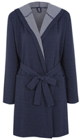 George Spots and Stripes Jersey Dressing Gown