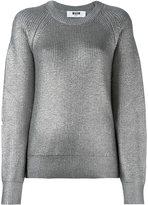 MSGM metallic ribbed pullover - women - Virgin Wool - S