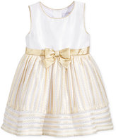 Sweet Heart Rose Striped Mesh Special Occasion Dress, Little Girls (2-6X)