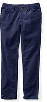 Classic Girls Pencil Leg Corduroy Jeans-Dark Bay Blue