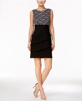 Connected Petite Tiered Sequined Sheath Dress