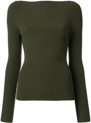 Dion Lee Ribbed Long Sleeved Top