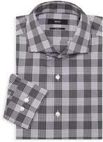 HUGO BOSS Jason Slim-Fit Plaid Dress Shirt