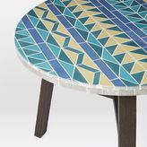 west elm Mosaic Tiled Bistro Table - Multi Triangle