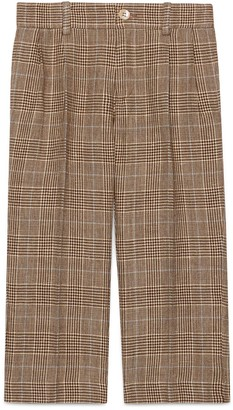 Gucci Children's check wool linen trousers