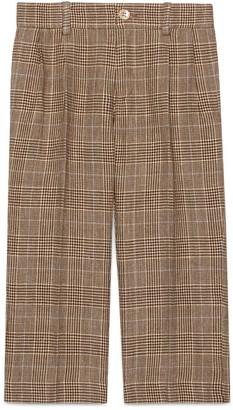 Gucci Children's check wool linen pant