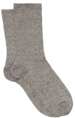 Falke Sensual Cotton-blend Socks - Womens - Grey