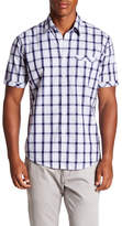 James Campbell Rink Short Sleeve Plaid Regular Fit Shirt