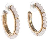Stephen Dweck Quartz Bead Hoop Earrings