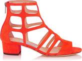 Jimmy Choo REN 35 Red Suede Sandals