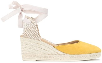 Manebi Hamptons espadrille wedge sandals