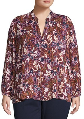 Rachel Roy Plus Floral-Print Top