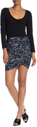 Bailey 44 Neutra Camo Print Cinching Mini Skirt
