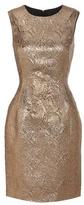 Oscar de la Renta Jacquard Lamé Wool And Silk-blend Dress