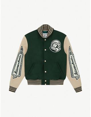 Billionaire Boys Club Heart & Mind striped-trim felt bomber jacket