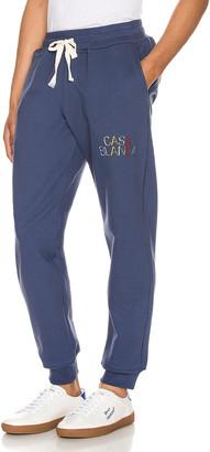 Casablanca Casa Arch Logo Sweatpants in Navy | FWRD