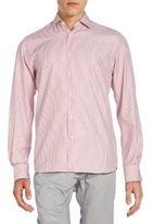 Saks Fifth Avenue Regular-Fit Striped Cotton Sportshirt
