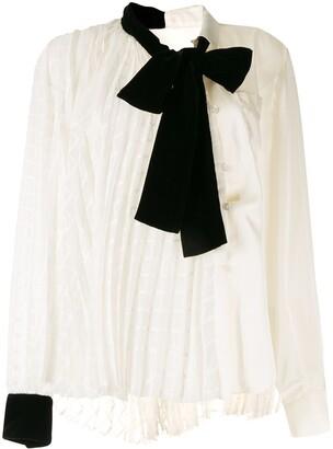 Sacai bow detail blouse