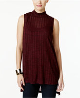 Alfani Petite High-Low Mock-Neck Top, Only at Macy's
