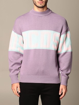 GCDS Pullover In Wool Blend With Logo