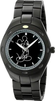 Disney Men's W001900 Mickey Mouse Analog Display Analog Quartz Black Watch