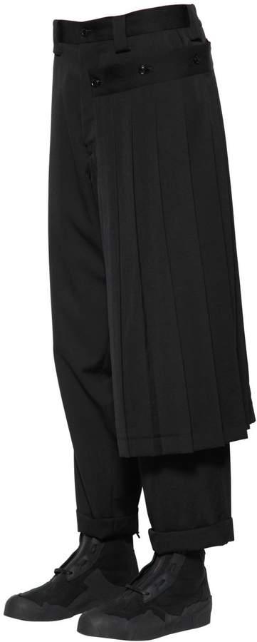 Yohji Yamamoto Gabardine Wool Pants W/ Detachable Skirt