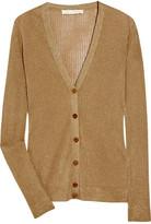 Metallic fine-knit cardigan