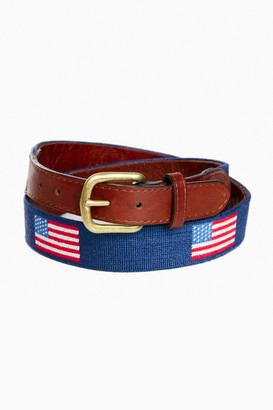 Smathers and Branson American Flag Needlepoint Belt