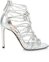 Alaia Multi-Strap Knotted Leather Sandals