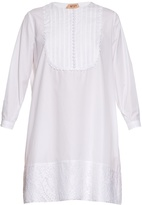 No.21 NO. 21 Lace trimmed cotton-poplin dress