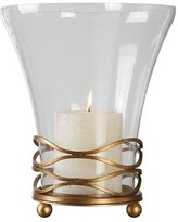 Uttermost Seeded Glass Hurricane Candle Holder