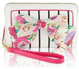 Betsey Johnson Oversized Wristlet Bow Zip Around Wallet
