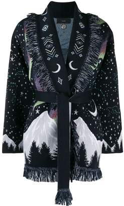 Alanui belted Moon Star cardigan