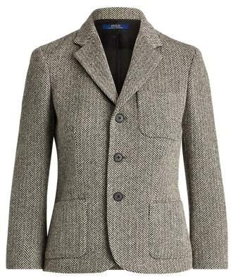 Ralph Lauren Herringbone Wool-Blend Blazer