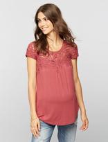 A Pea in the Pod Daniel Rainn Button Detail Maternity T Shirt