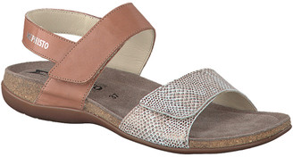 Mephisto Agave Leather Wedge Sandal
